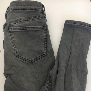 Top shop jamie grey ripped skinny jeans 26